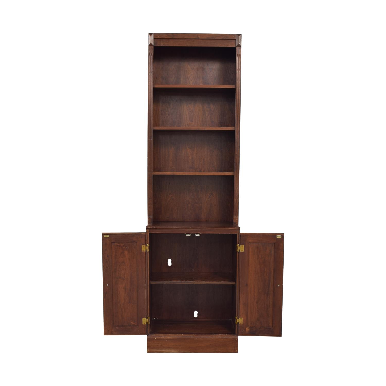 Vintage Bookshelf with Cabinet sale
