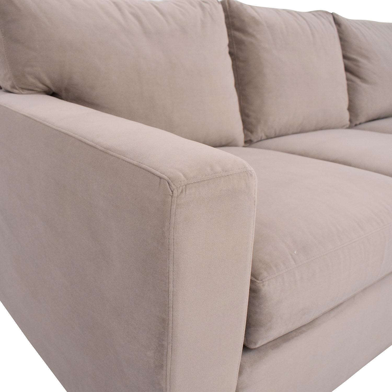 buy Crate & Barrel Crate & Barrel Axis II Left Arm Corner Sofa online