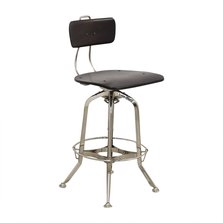 Restoration Hardware Restoration Hardware 1940s Vintage Toledo Bar Chair dark brown