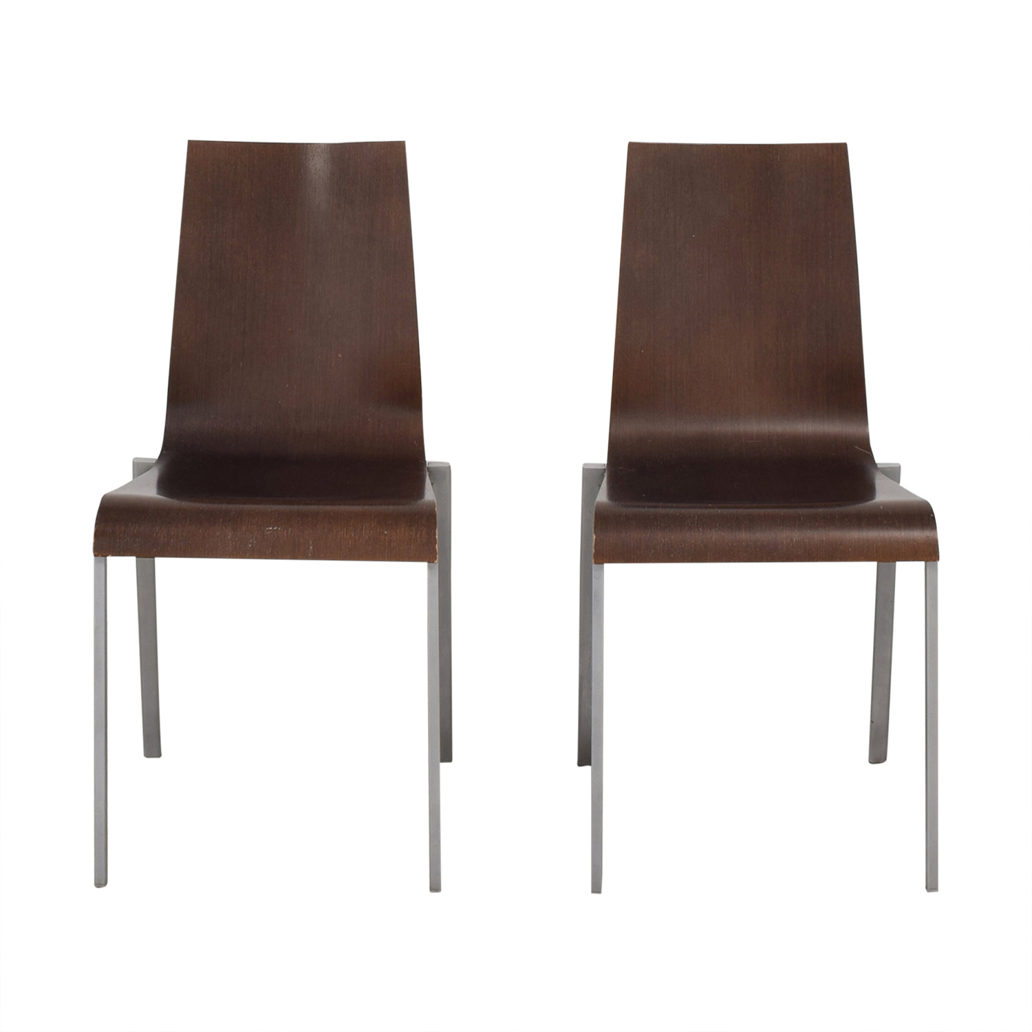 Minotti Wooden Chairs sale