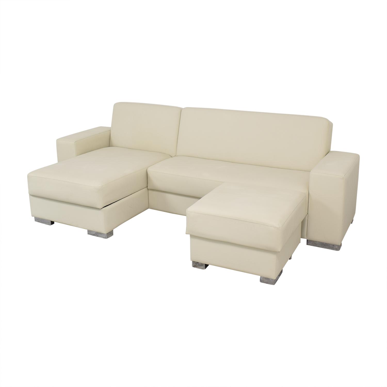 Hudson Furniture & Bedding Hudson Furniture Kobe Sectional Sofa Bed with Storage used