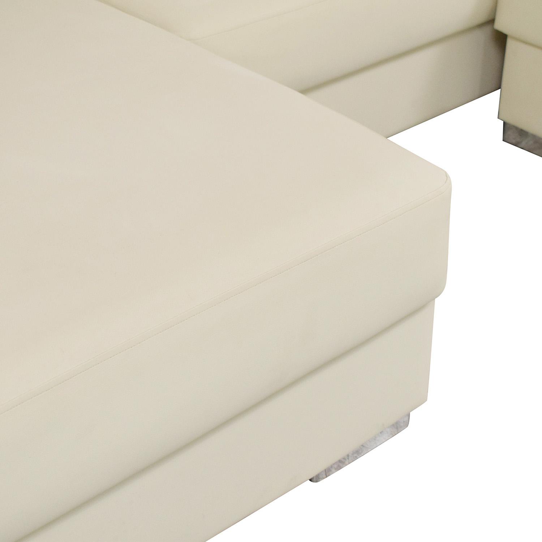 Hudson Furniture & Bedding Hudson Furniture Kobe Sectional Sofa Bed with Storage ct