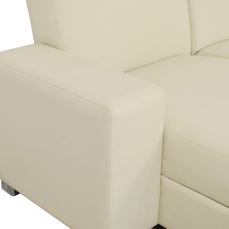 Hudson Furniture & Bedding Hudson Furniture Kobe Sectional Sofa Bed with Storage nj