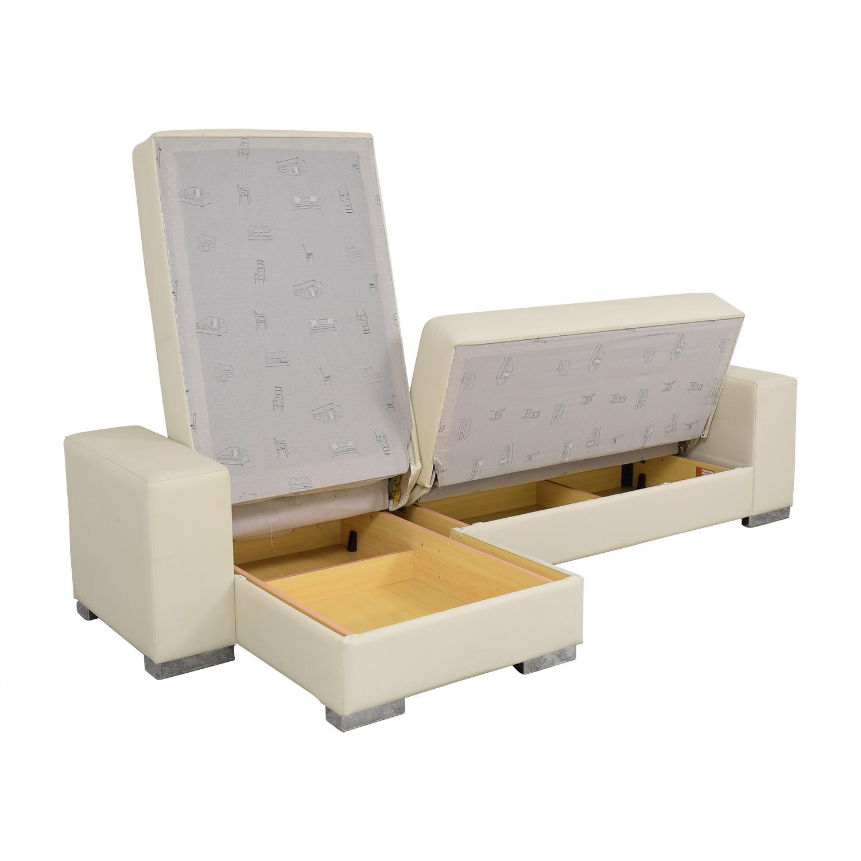 Hudson Furniture & Bedding Hudson Furniture Kobe Sectional Sofa Bed with Storage second hand