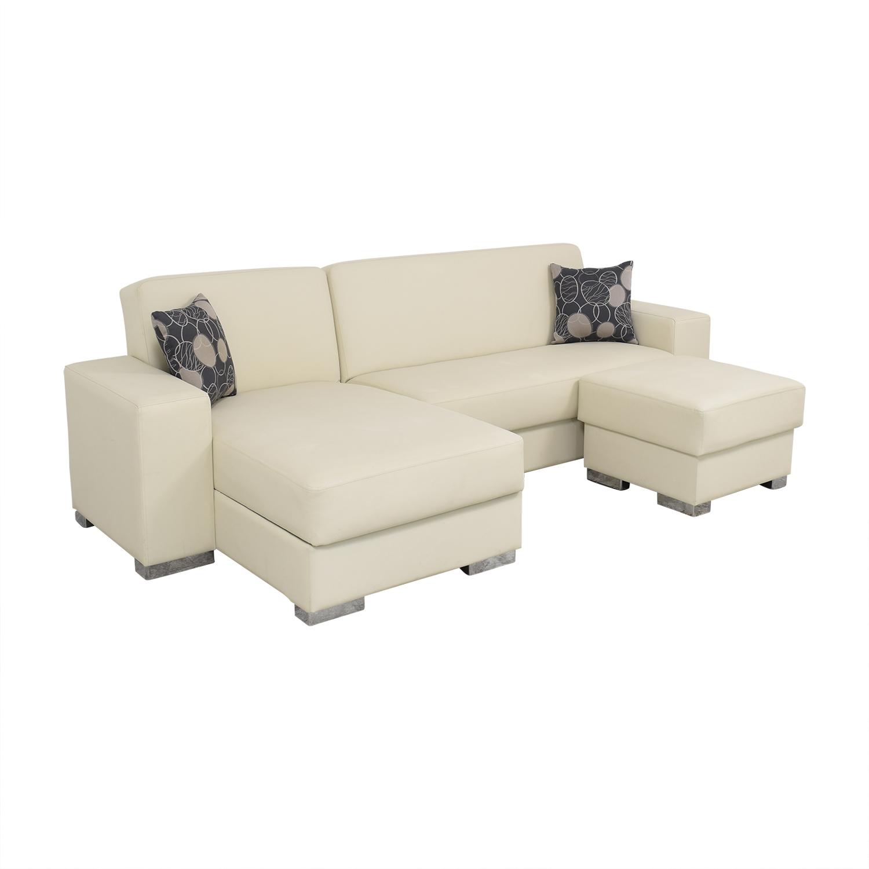 shop Hudson Furniture Kobe Sectional Sofa Bed with Storage Hudson Furniture & Bedding Sectionals