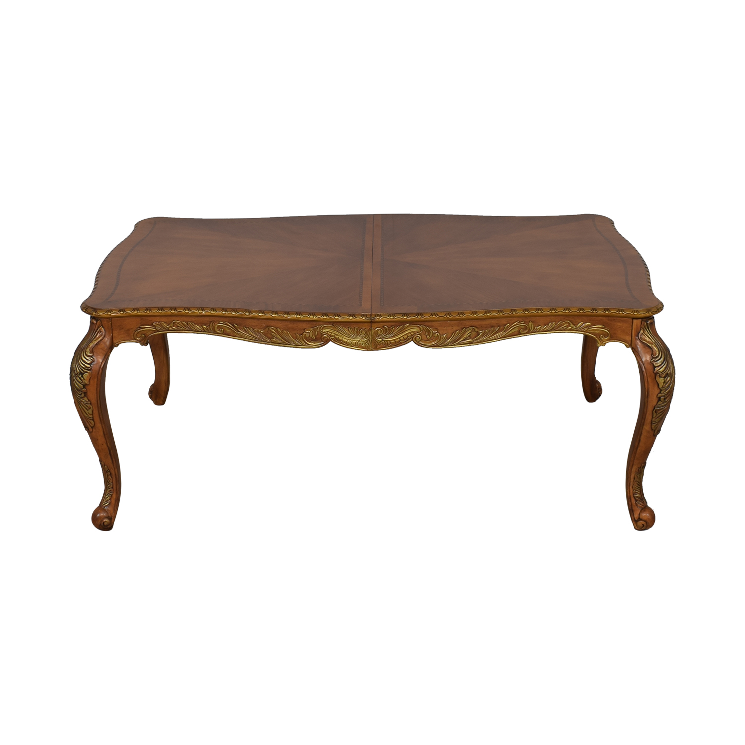 Raymour & Flanigan Raymour & Flanigan Extendable Dining Table brown