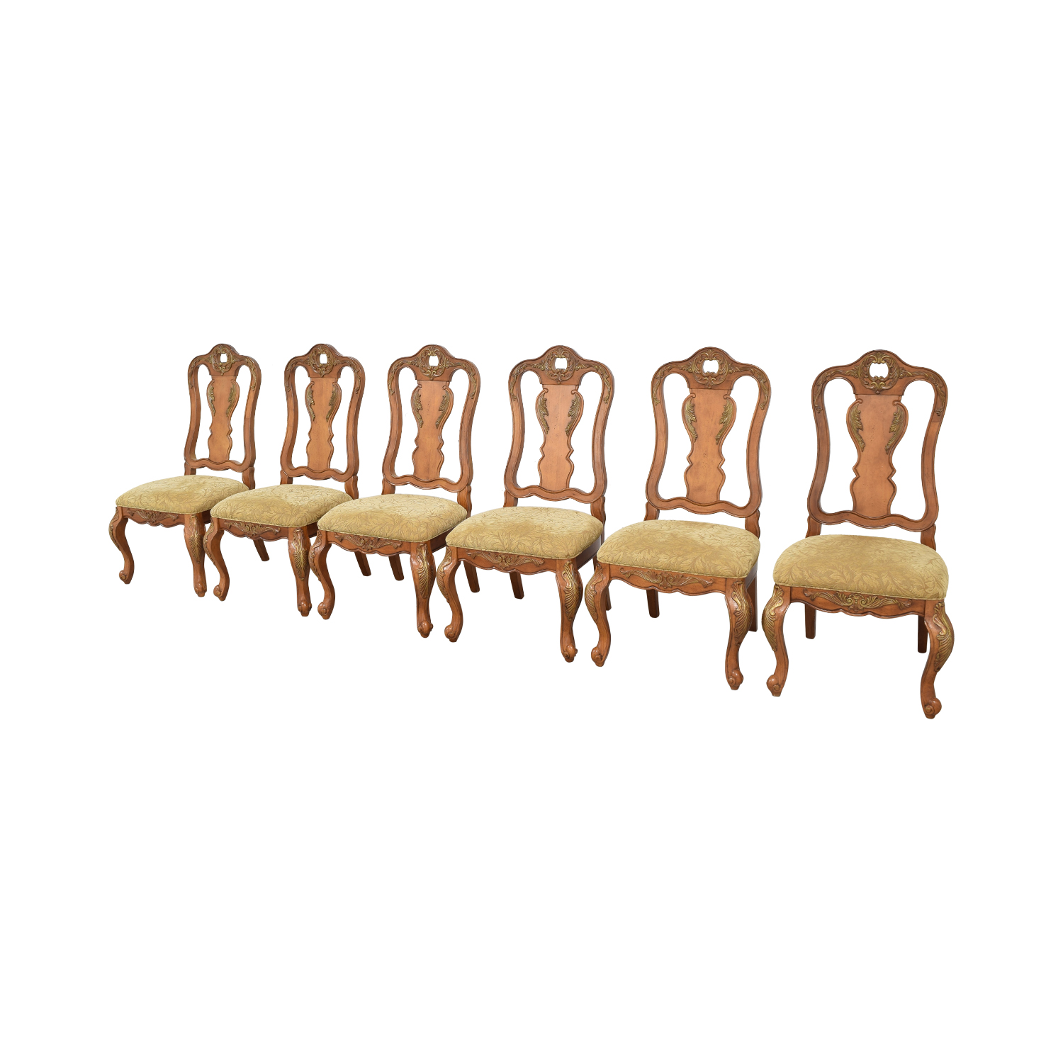 Raymour & Flanigan Raymour & Flanigan Carved Dining Chairs ct