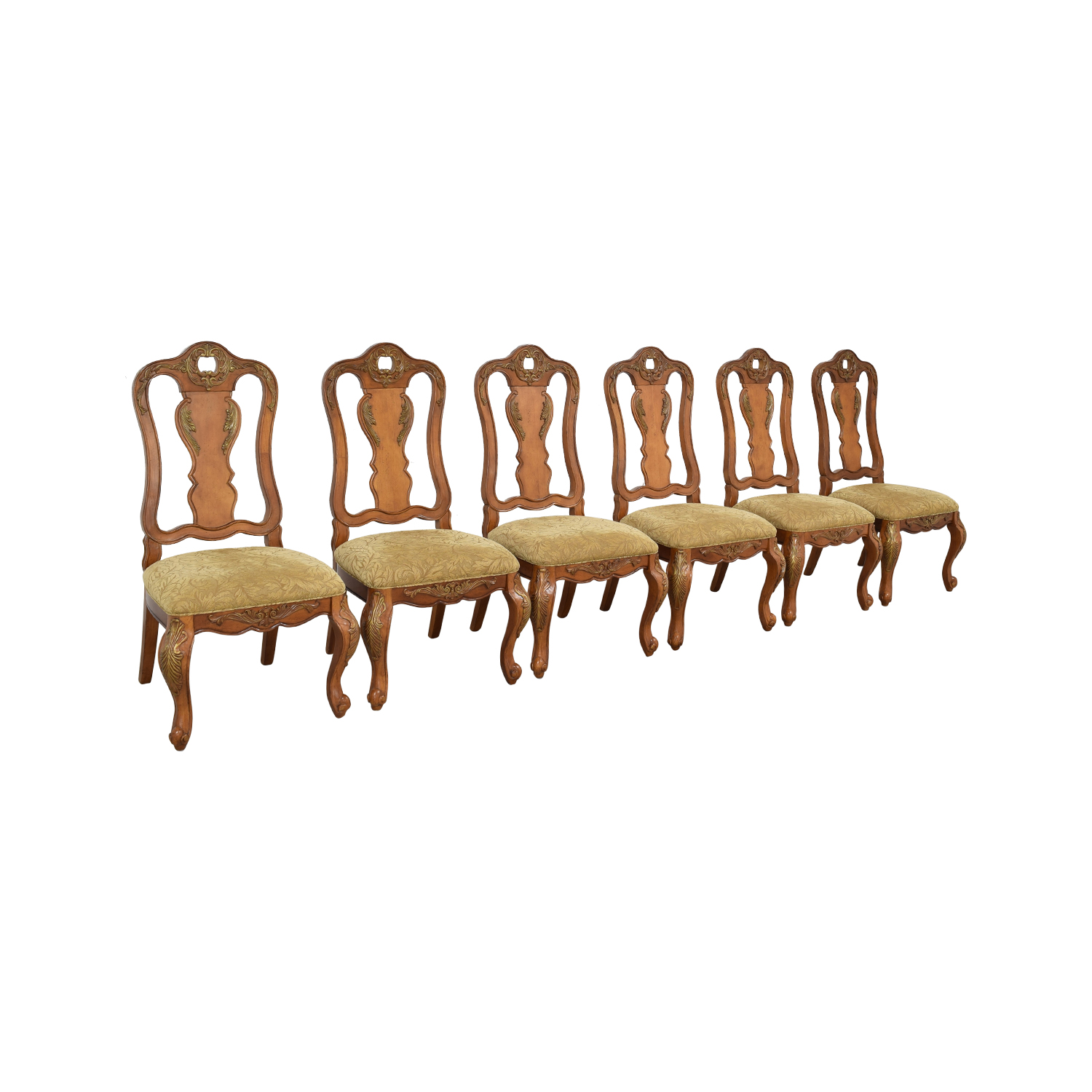 Raymour & Flanigan Raymour & Flanigan Carved Dining Chairs nj