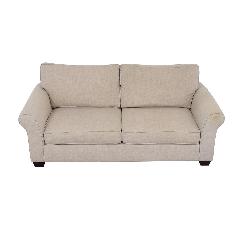 Pottery Barn Comfort Roll Arm Upholstered Sofa sale