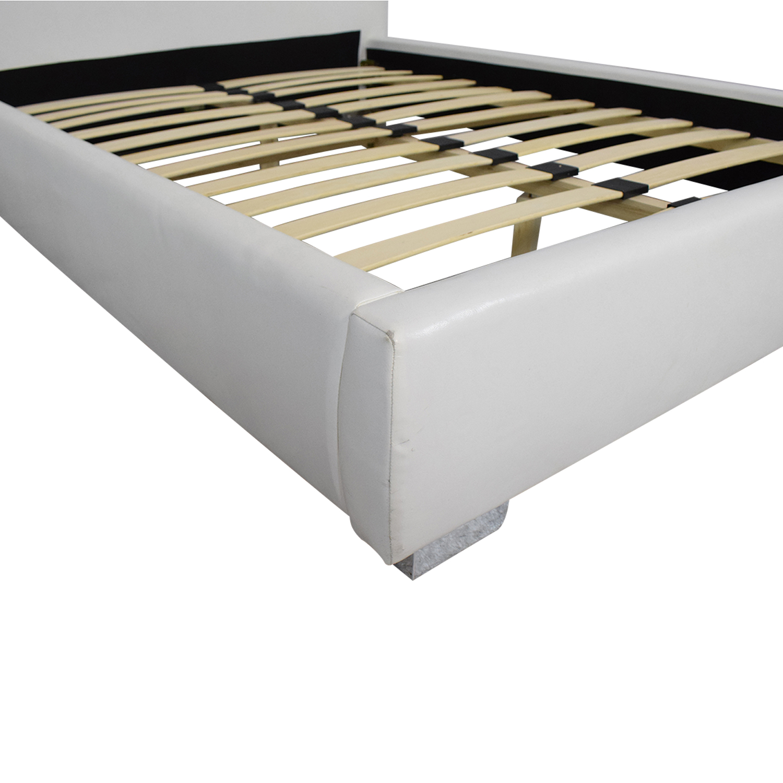 shop Jesalyn Platform Bed with Tufted Upholstered Headboard Full  Bed Frames