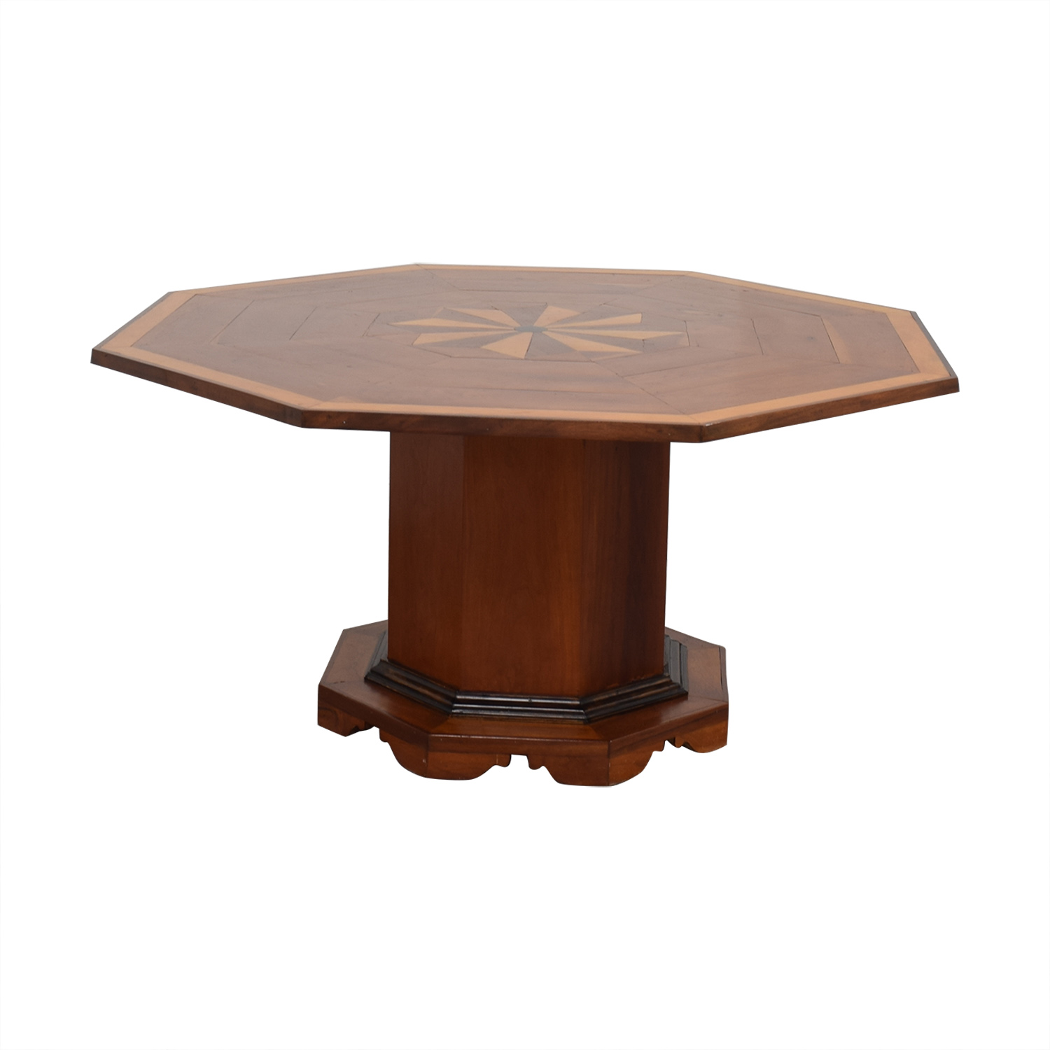 Octagonal Dining Table with Inlay