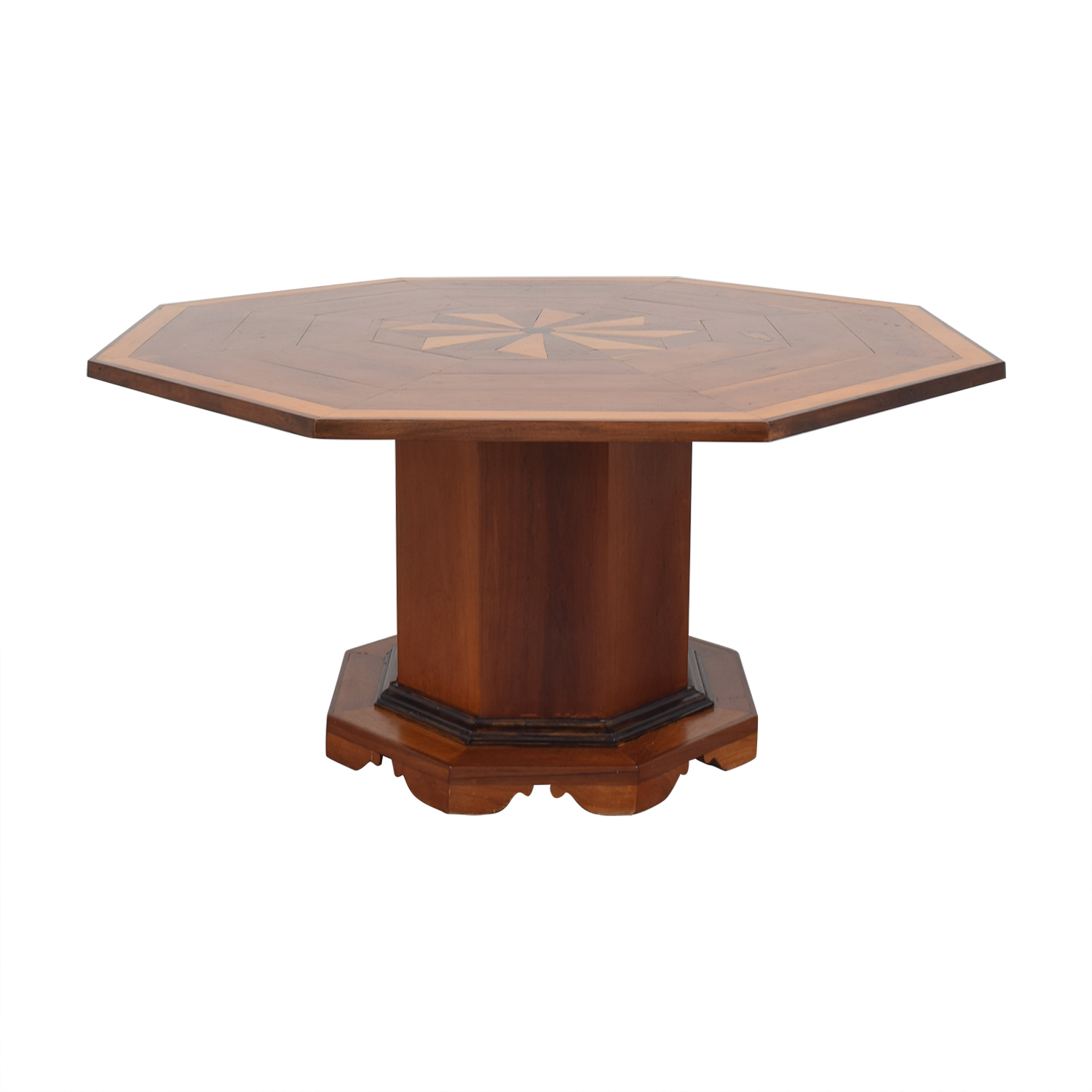 Octagonal Dining Table with Inlay sale