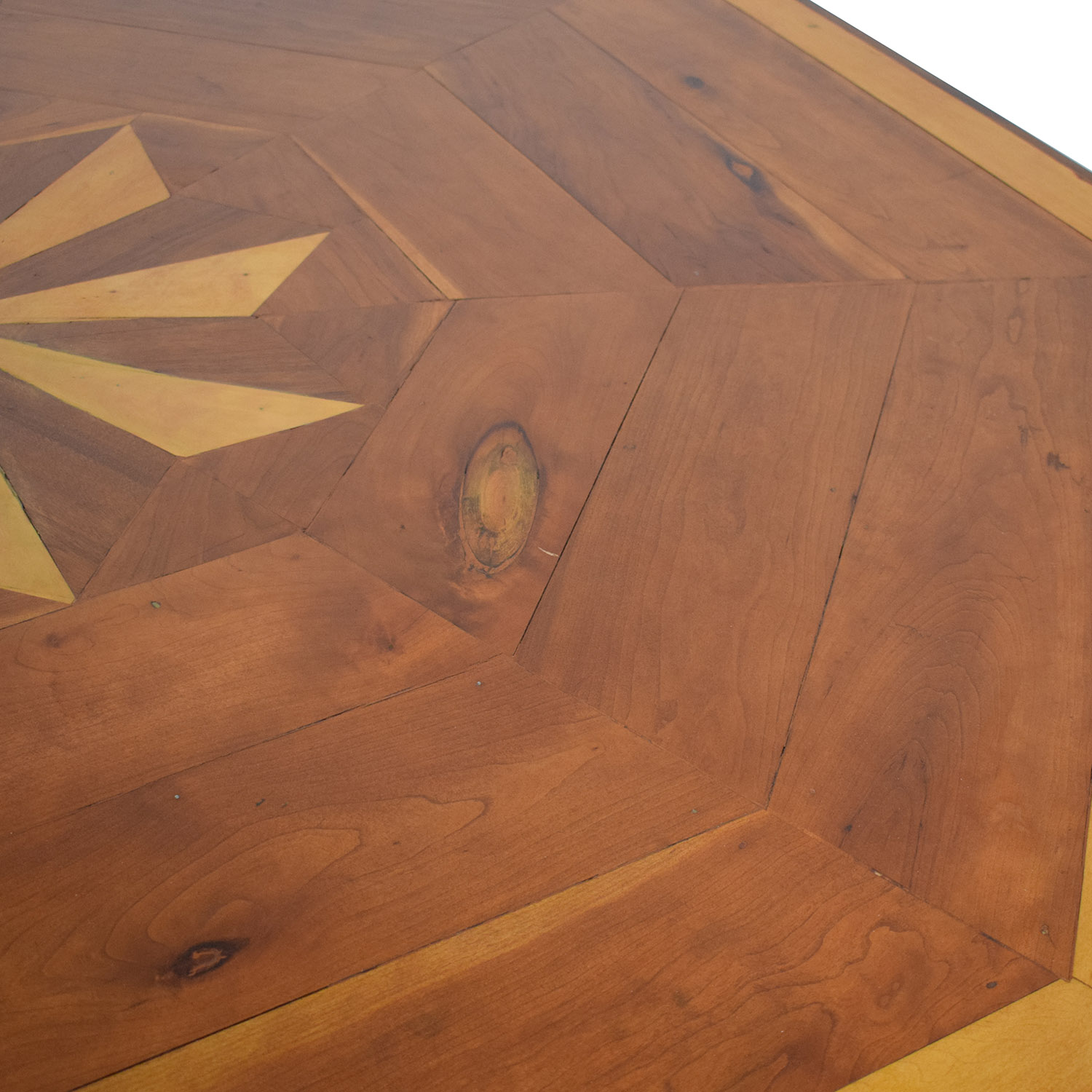 Octagonal Dining Table with Inlay Dinner Tables