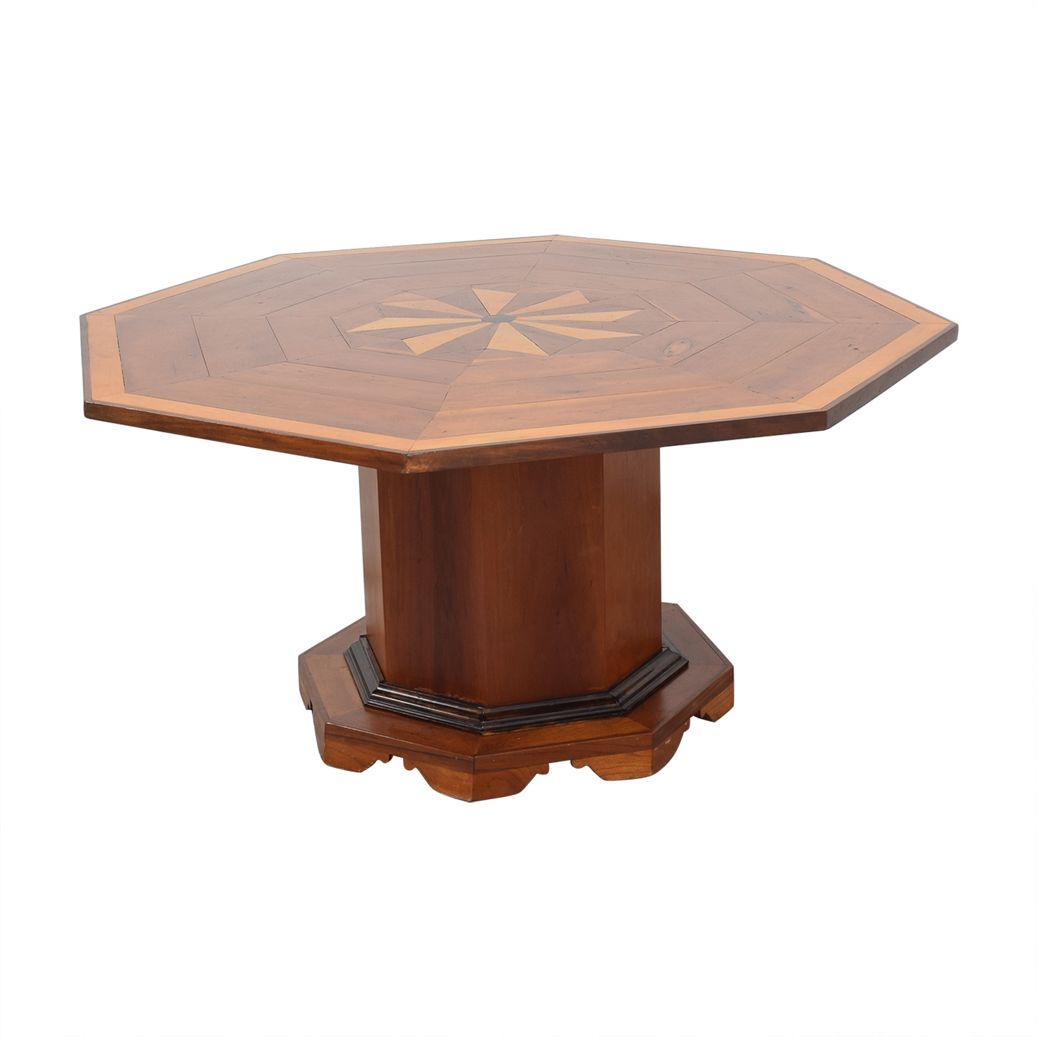 shop Octagonal Dining Table with Inlay  Dinner Tables