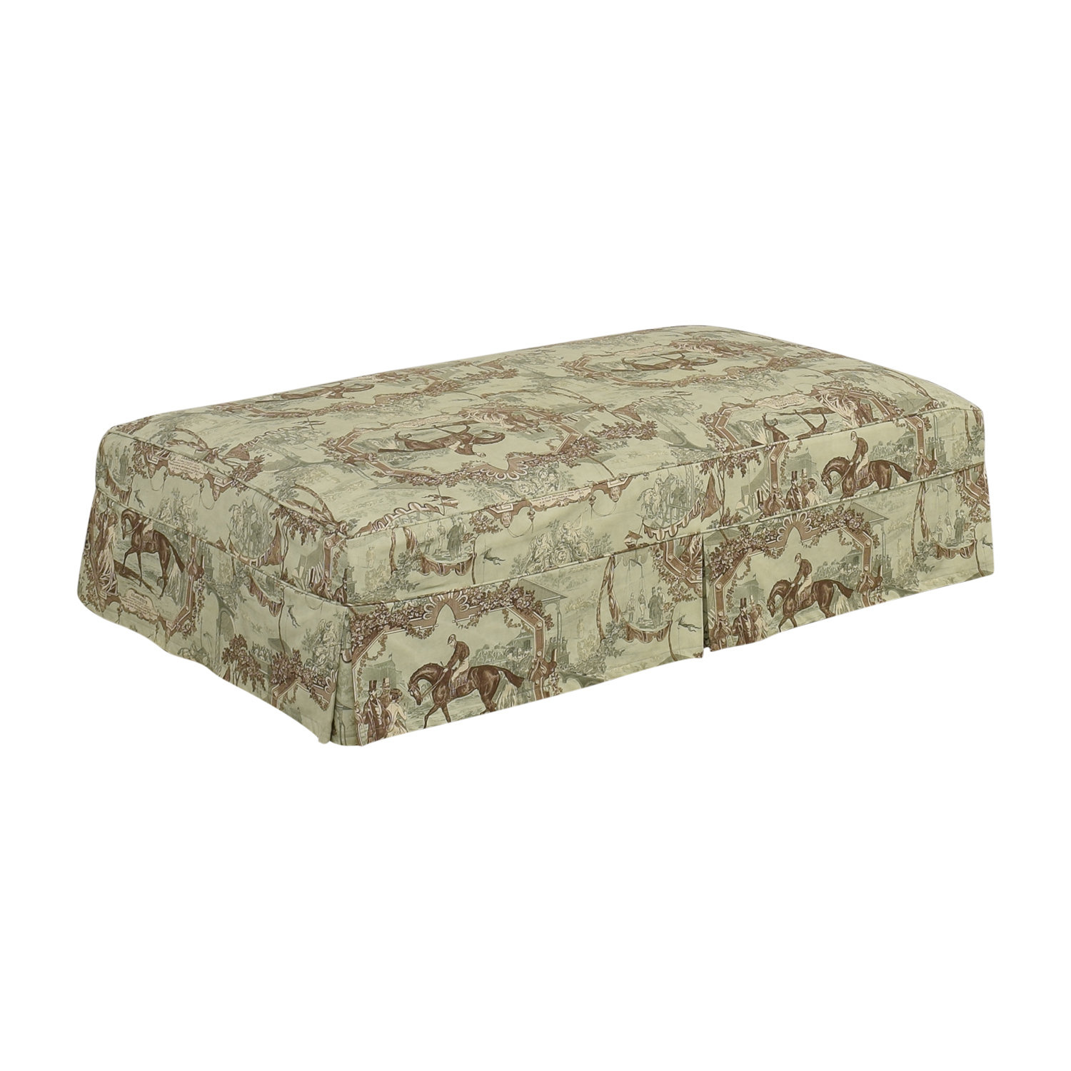 Custom Slipcovered Ottoman price