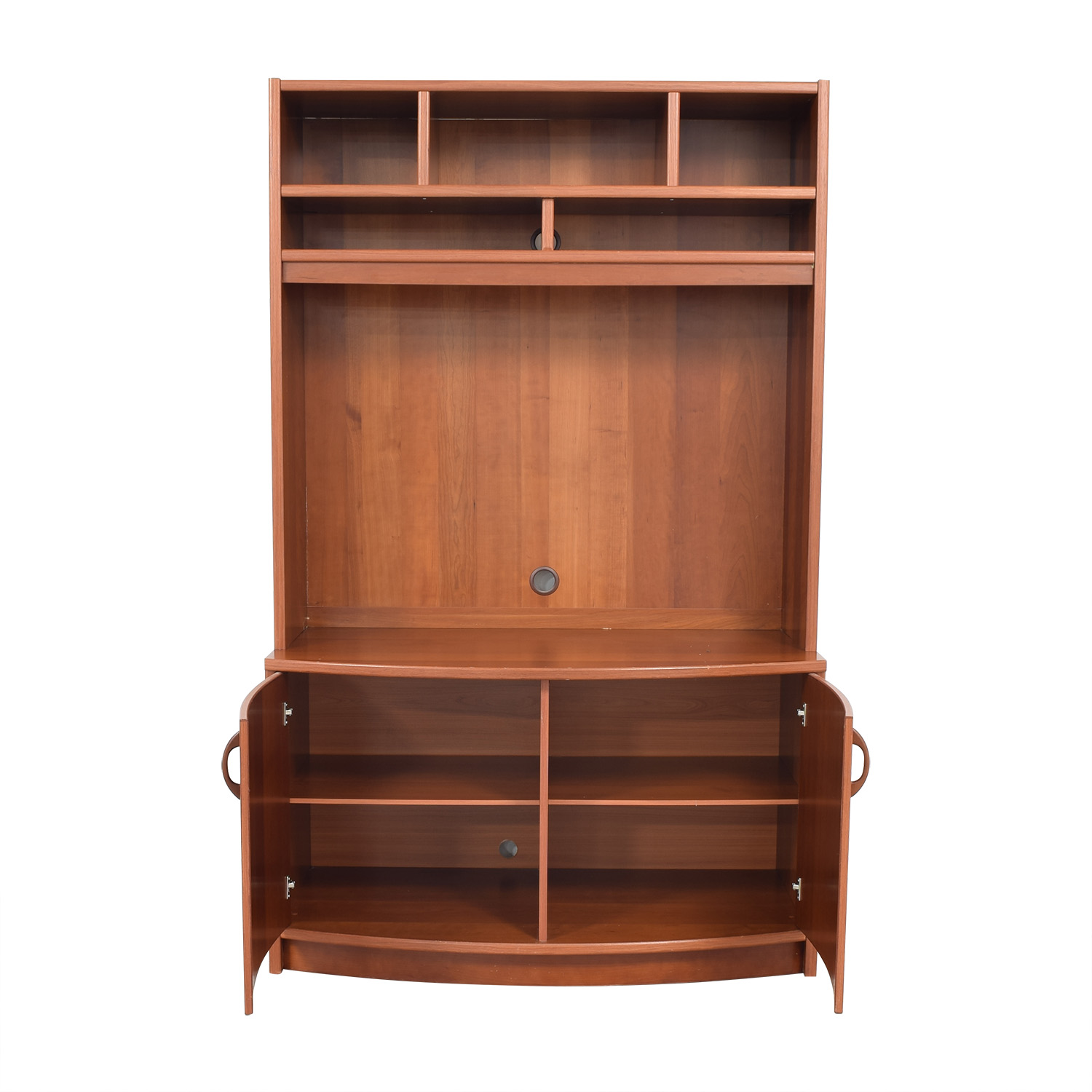 Media Stand with Storage brown