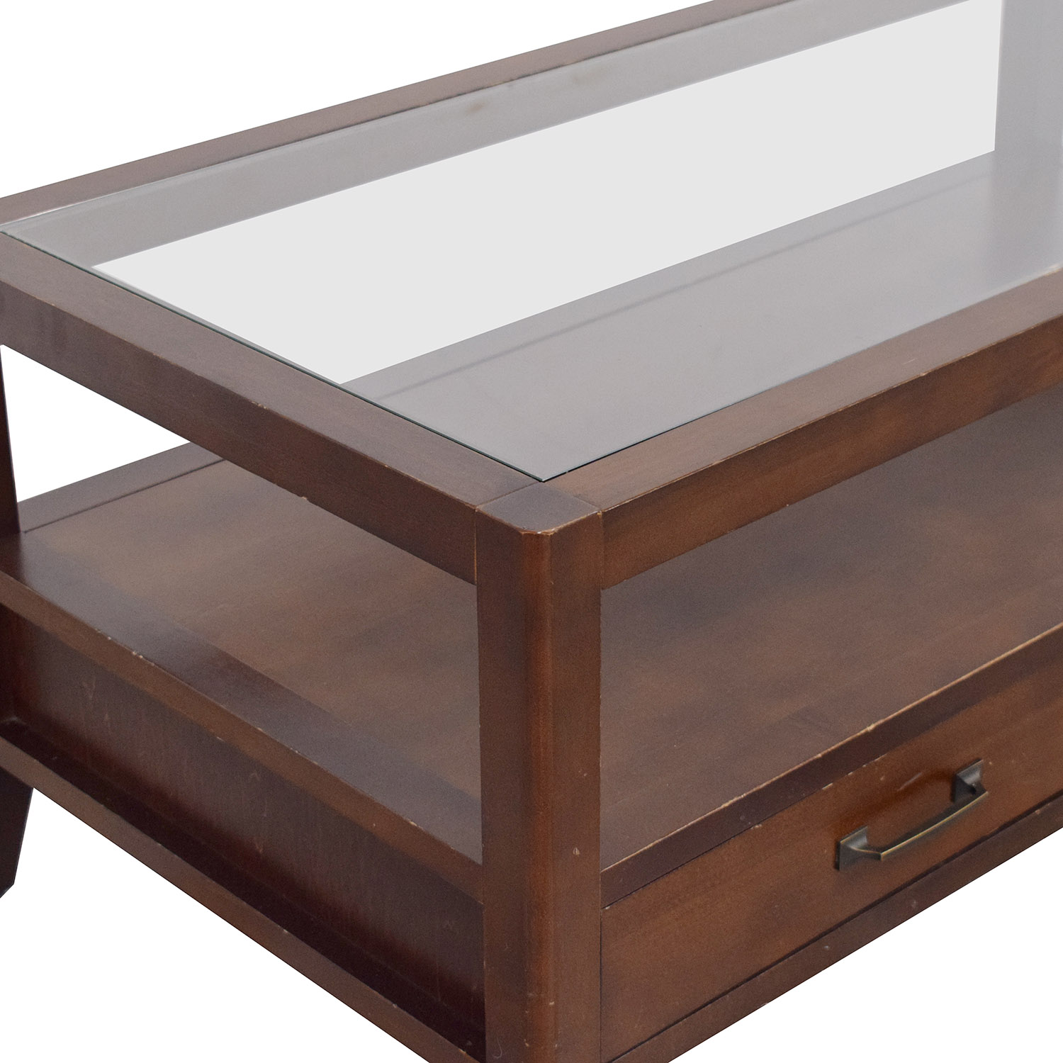 Crate & Barrel Two Drawer Coffee Table / Tables