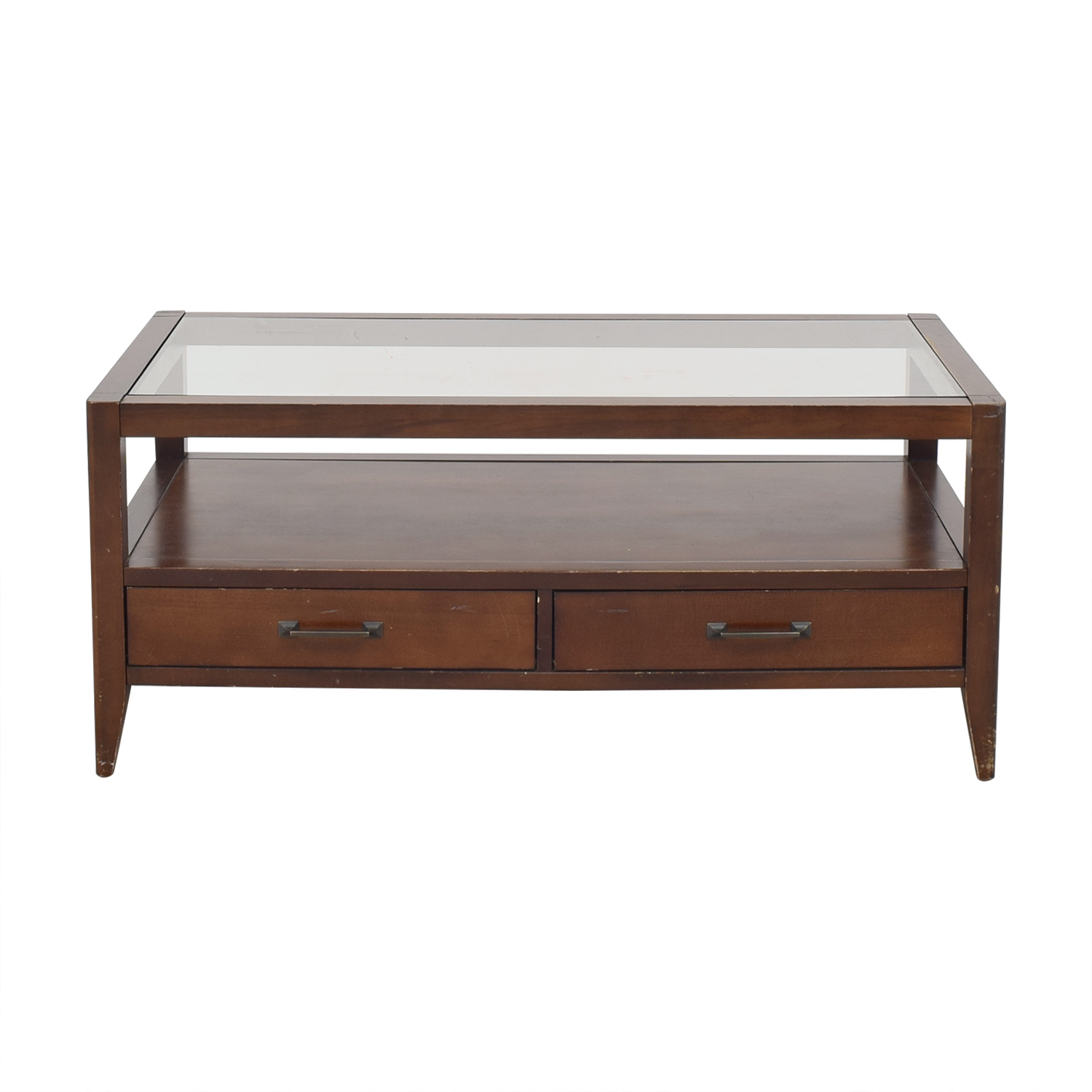 Crate & Barrel Crate & Barrel Two Drawer Coffee Table pa