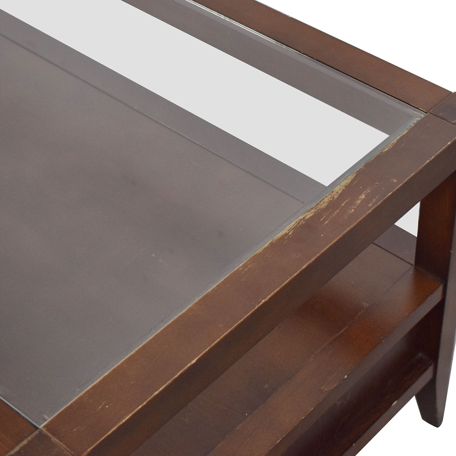 Crate & Barrel Crate & Barrel Two Drawer Coffee Table brown
