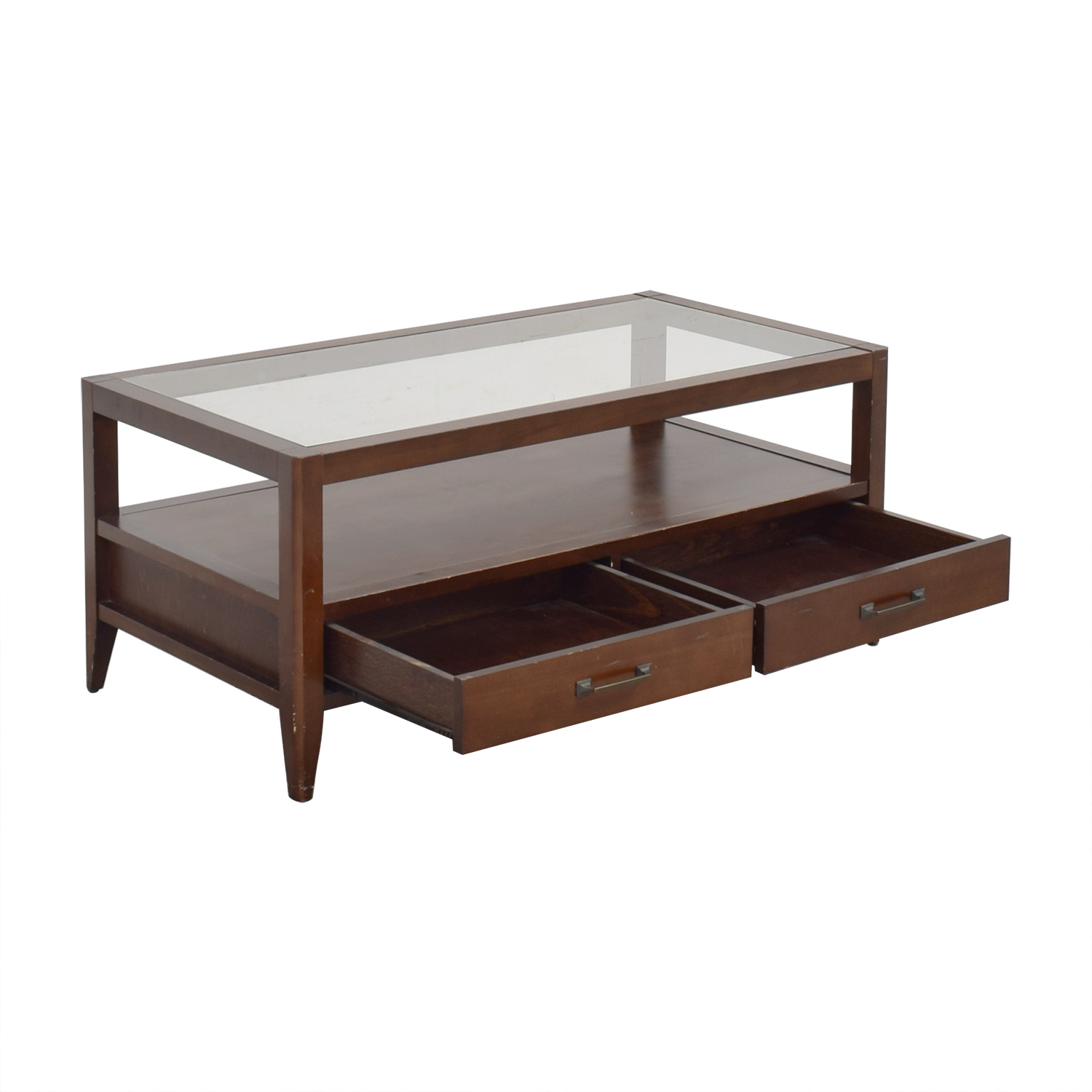 Crate & Barrel Crate & Barrel Two Drawer Coffee Table coupon