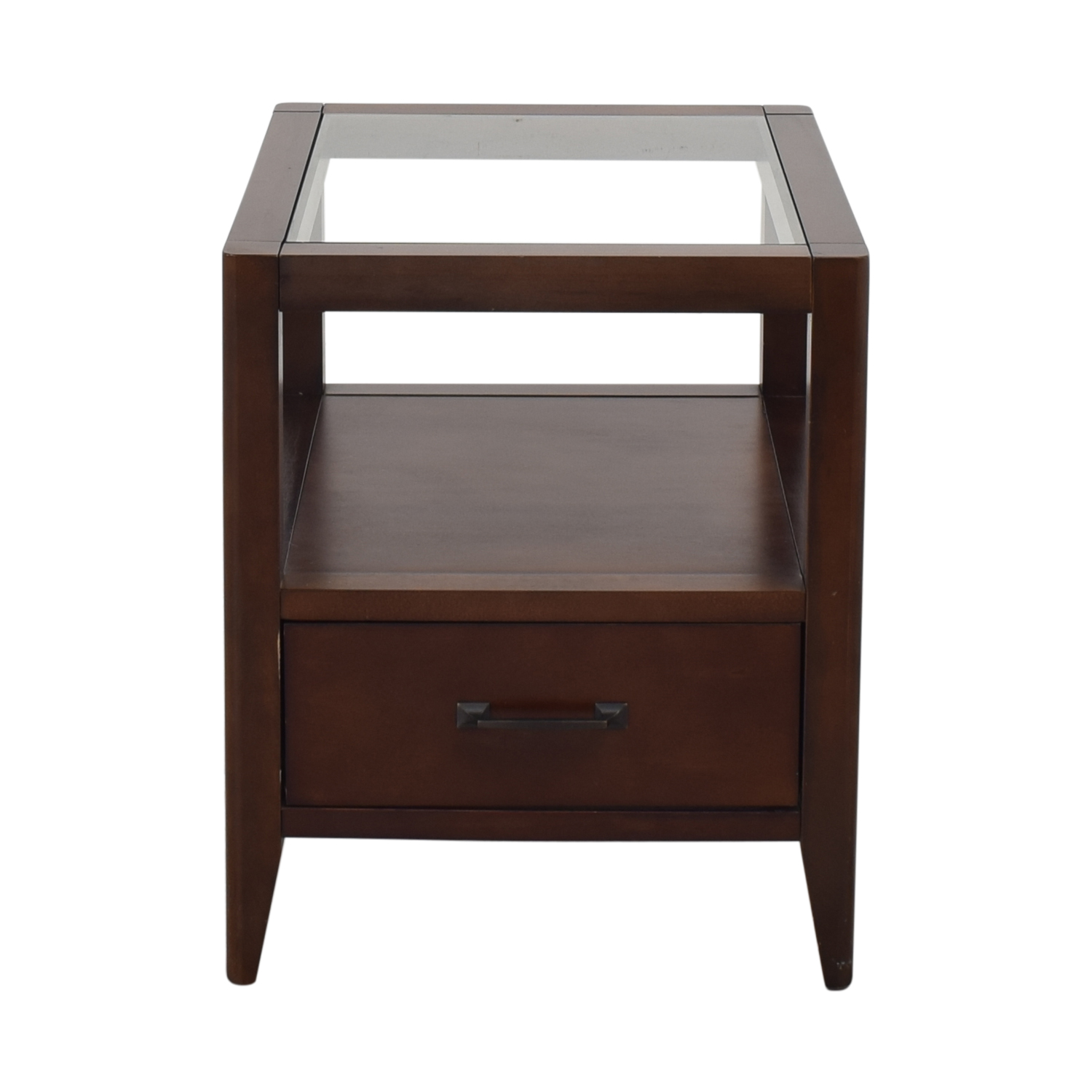 Crate & Barrel Crate & Barrel End Table with Drawer discount