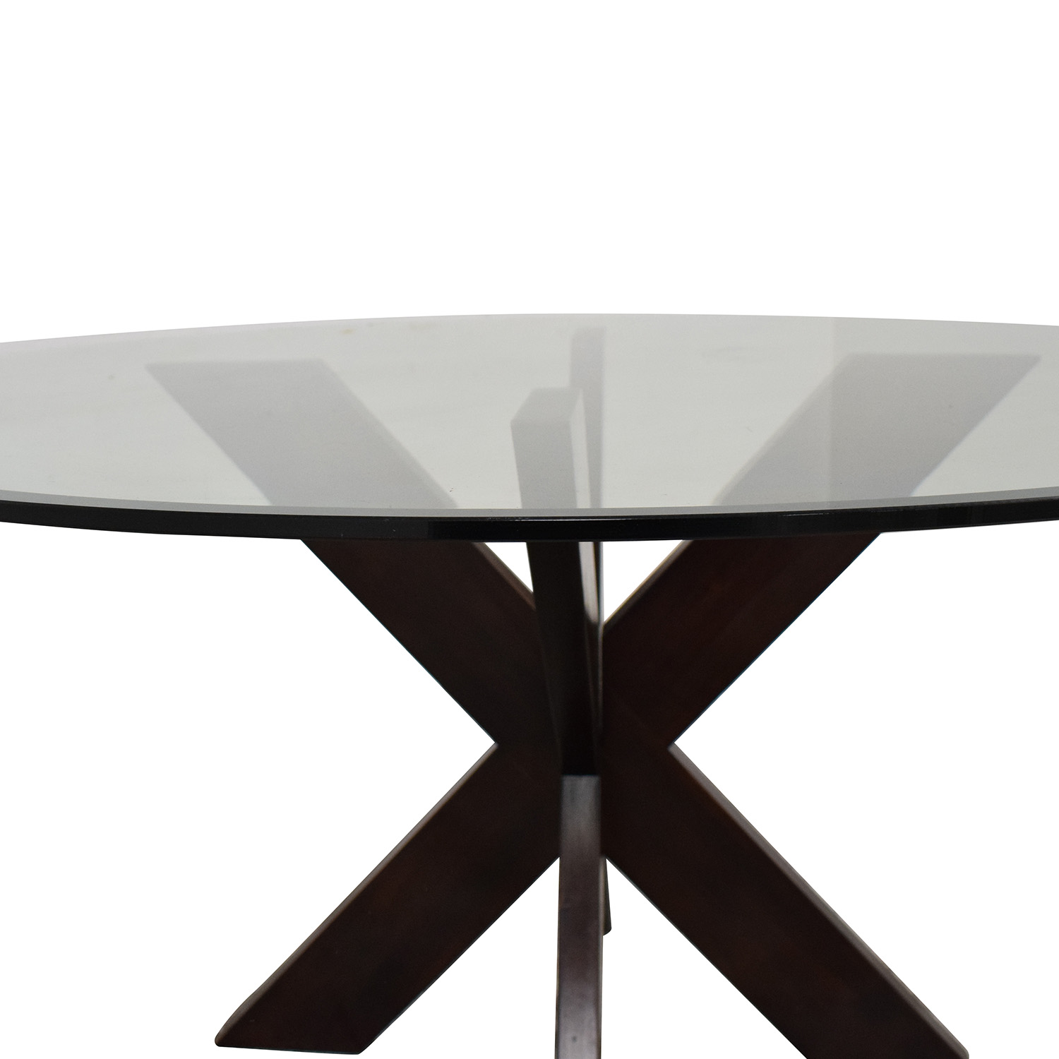 buy Pier 1 X-Base Dining Table with Glass Top Pier 1 Dinner Tables