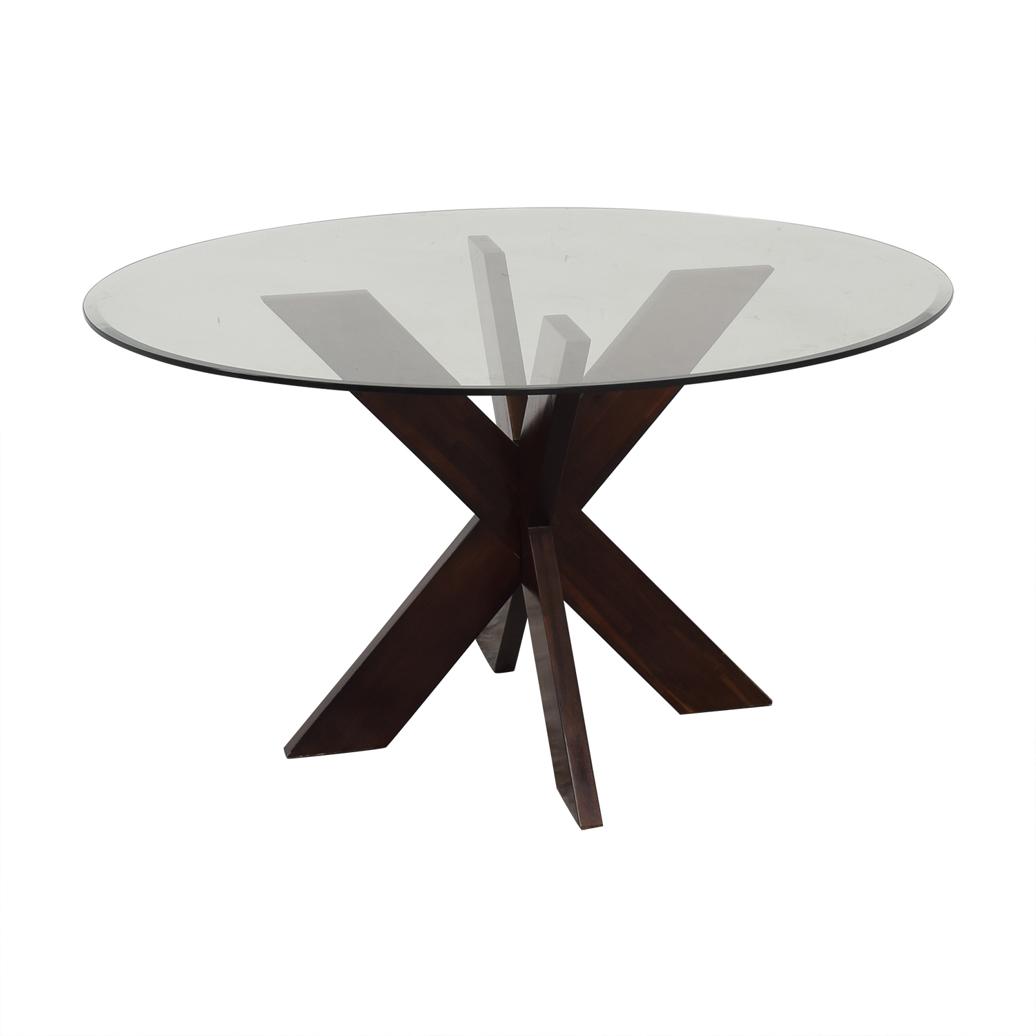 buy Pier 1 X-Base Dining Table with Glass Top Pier 1