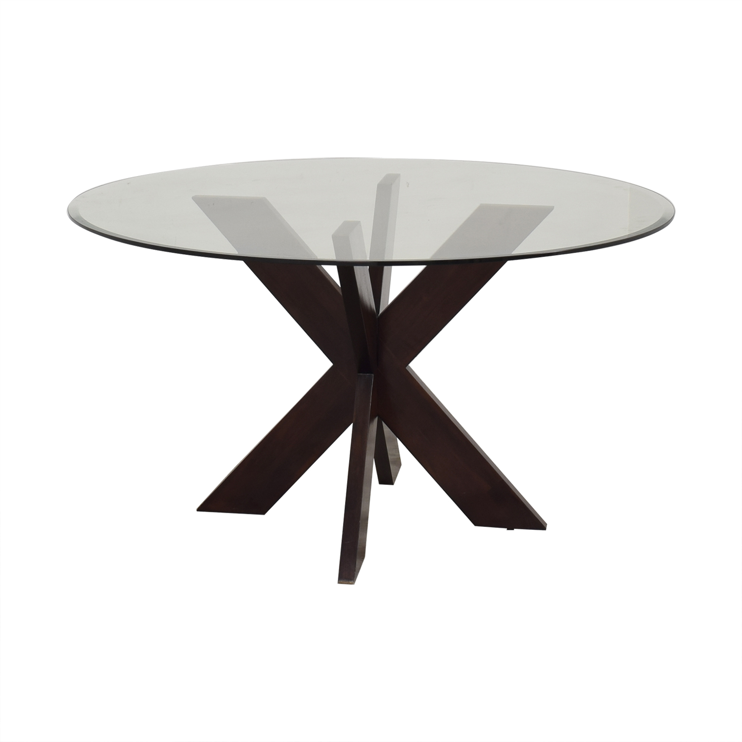 9 OFF   Pier 9 Pier 9 X Base Dining Table with Glass Top / Tables