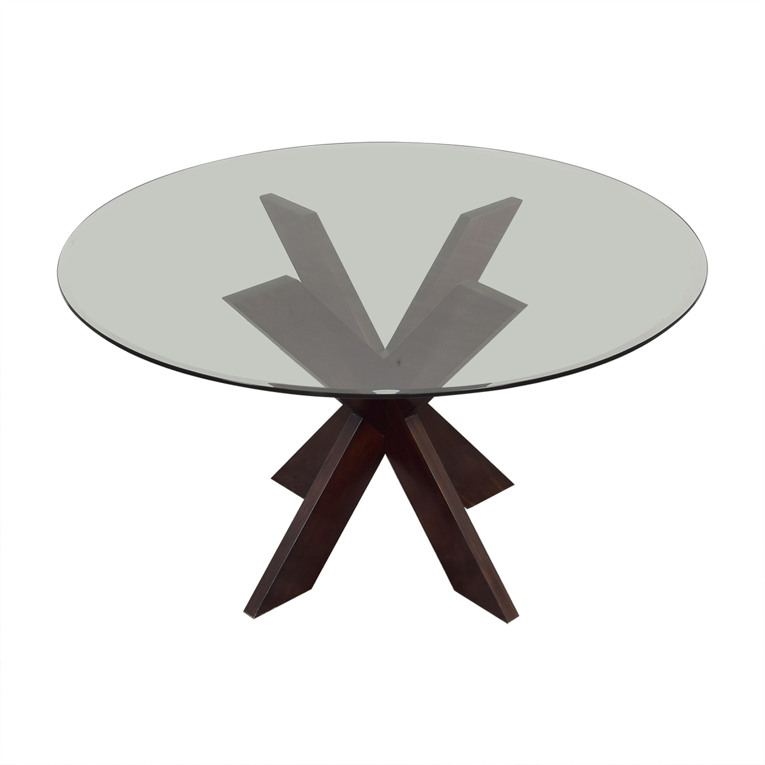 shop Pier 1 X-Base Dining Table with Glass Top Pier 1 Dinner Tables