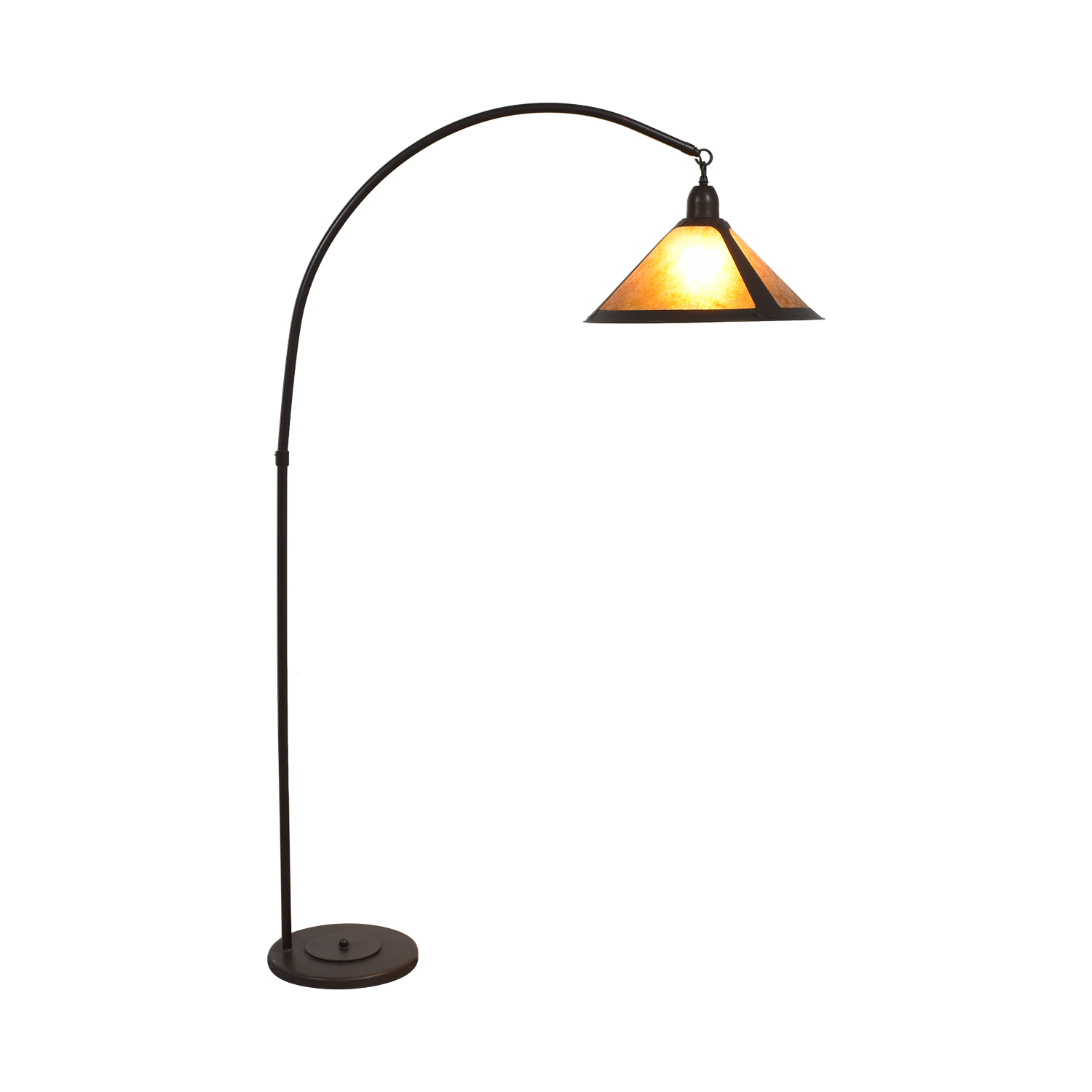 Pottery Barn Mission Style Arc Floor Lamp ct