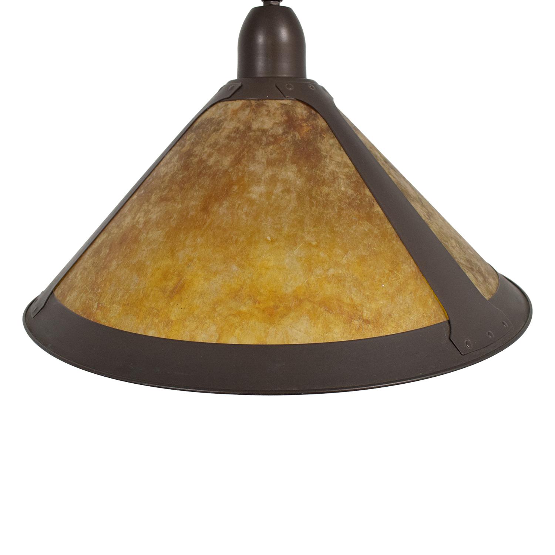Pottery Barn Mission Style Arc Floor Lamp used