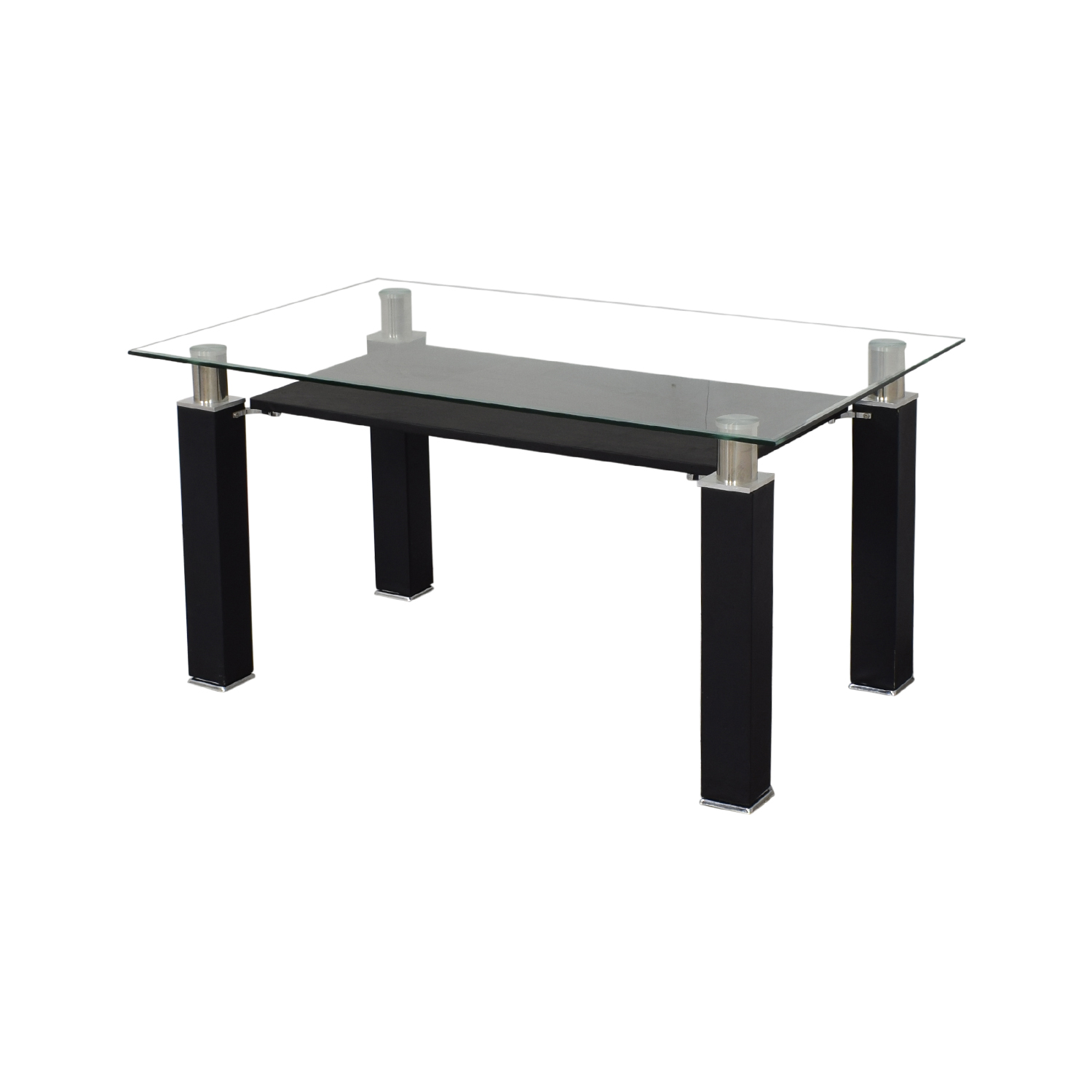 Acme Acme Furniture Modern Glass Dining Table second hand