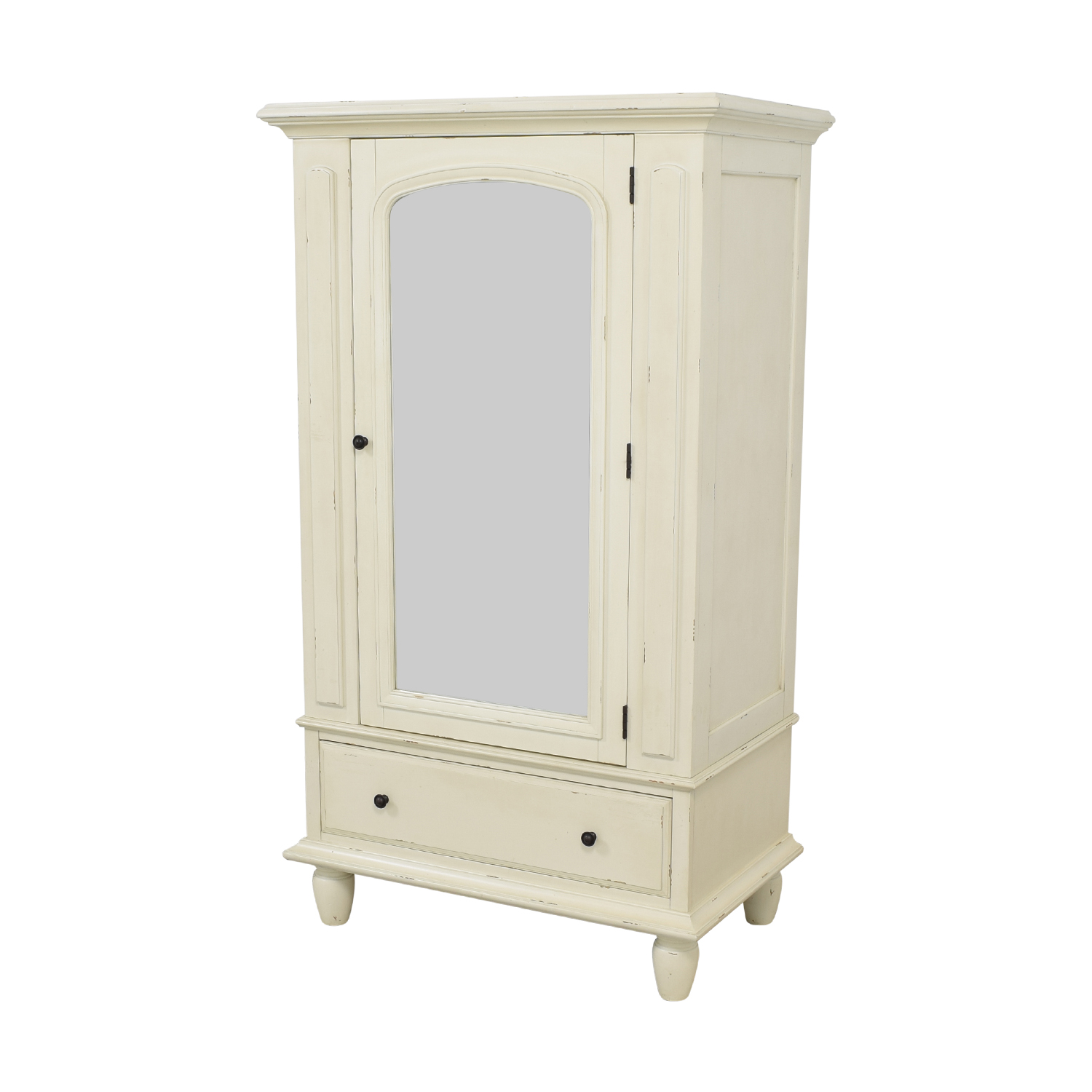 80 Off Pottery Barn Pottery Barn Mirrored Armoire Storage