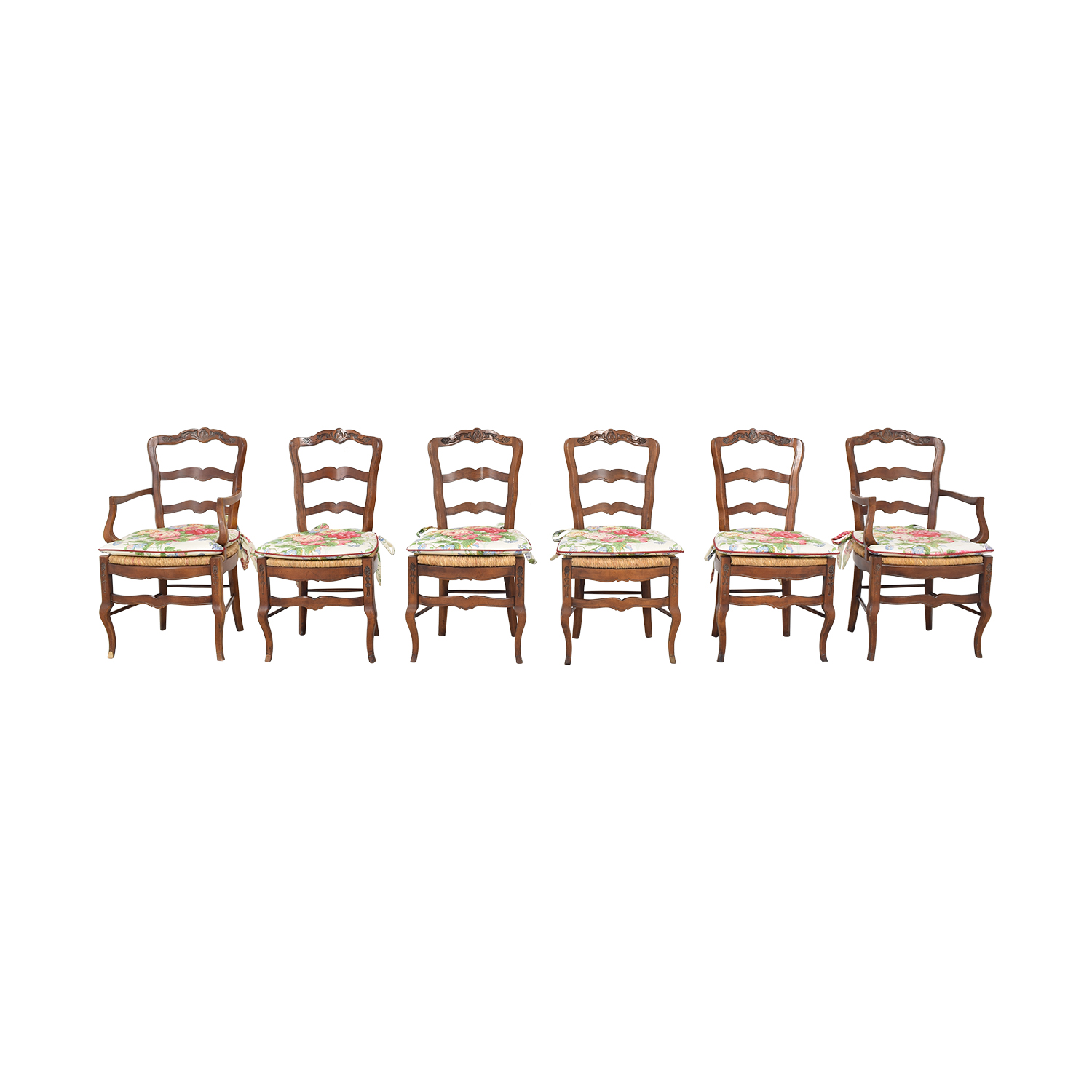 Farmhouse Dining Chairs with Cushions multicolored