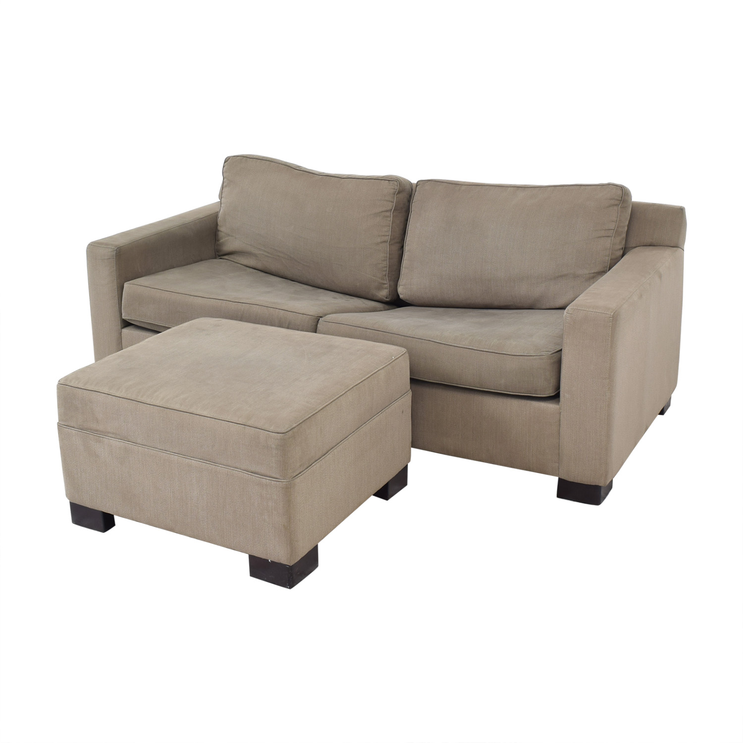 Urban Barn Urban Barn Apartment Sleeper Sofa & Ottoman ct