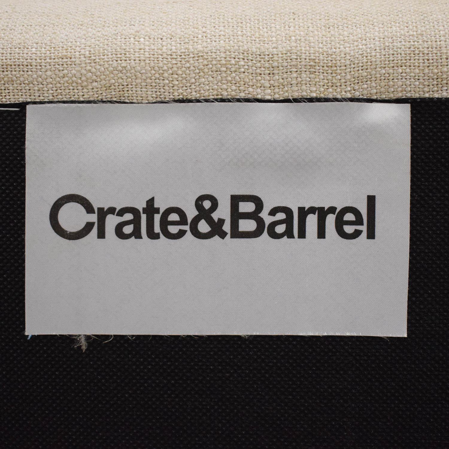 Crate & Barrel Crate & Barrel Elegant Upholstered Loveseat for sale