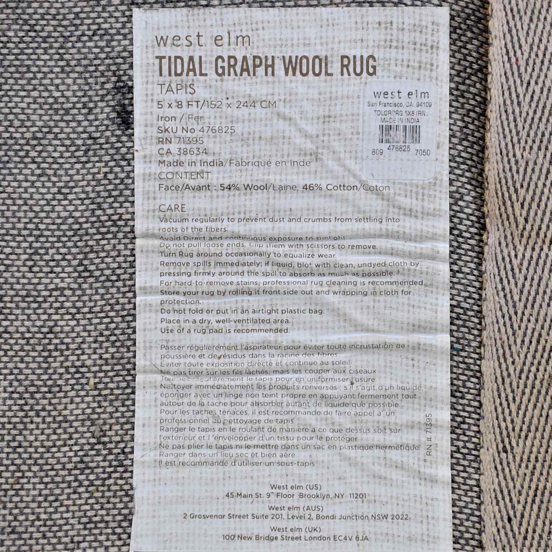 West Elm West Elm Tidal Graph Wool Rug ct