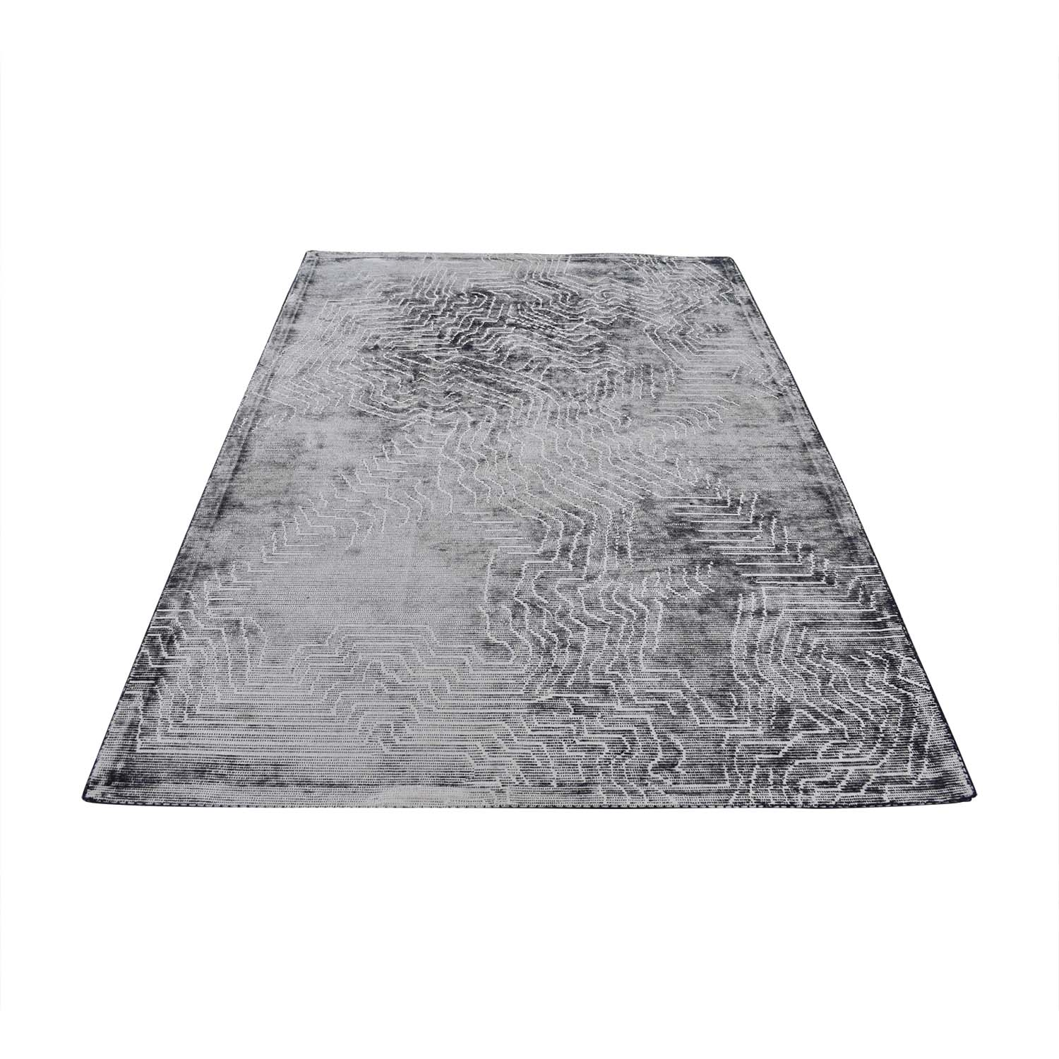 shop West Elm Tidal Graph Wool Rug West Elm