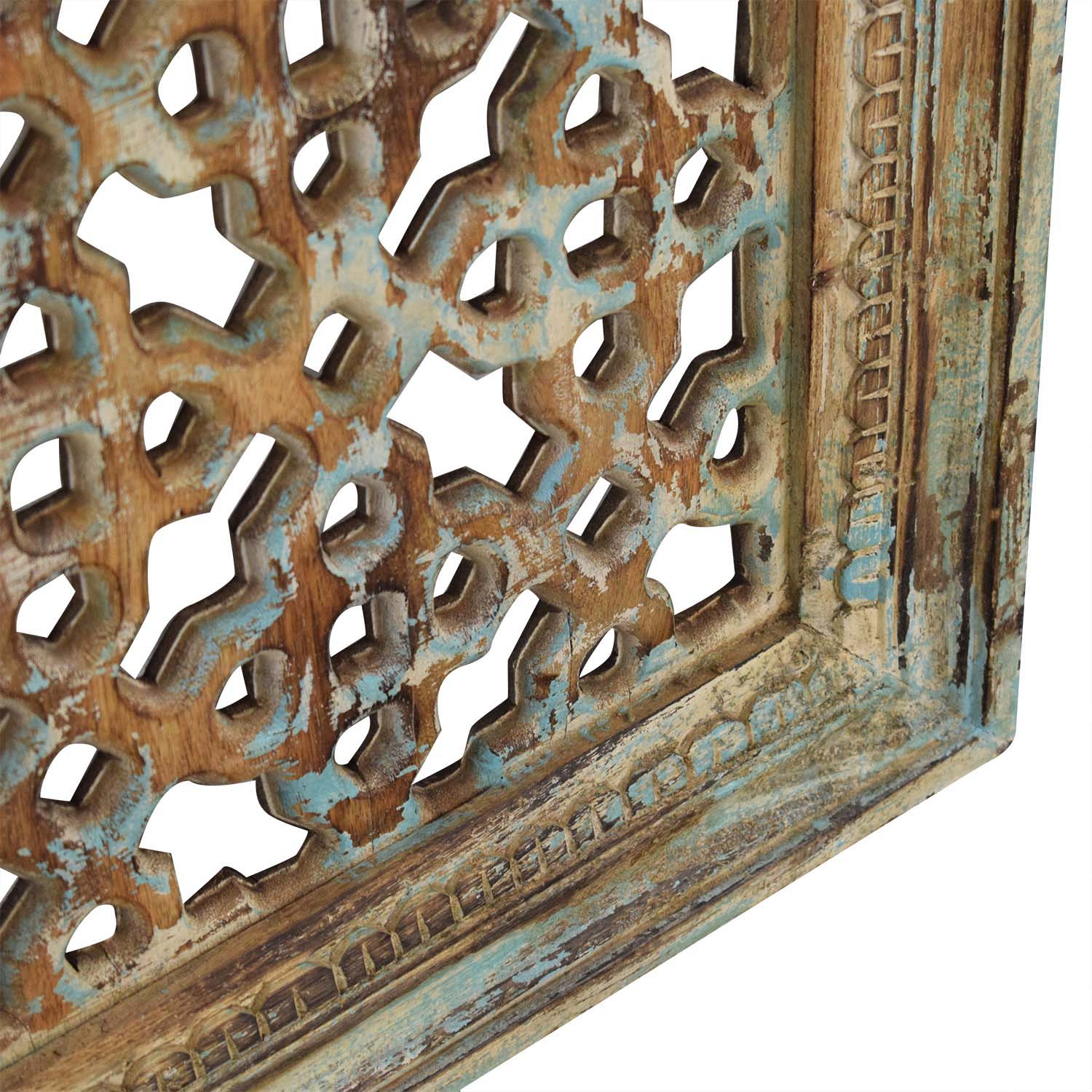 Nadeau Distressed Carved Panel Wall Art pa