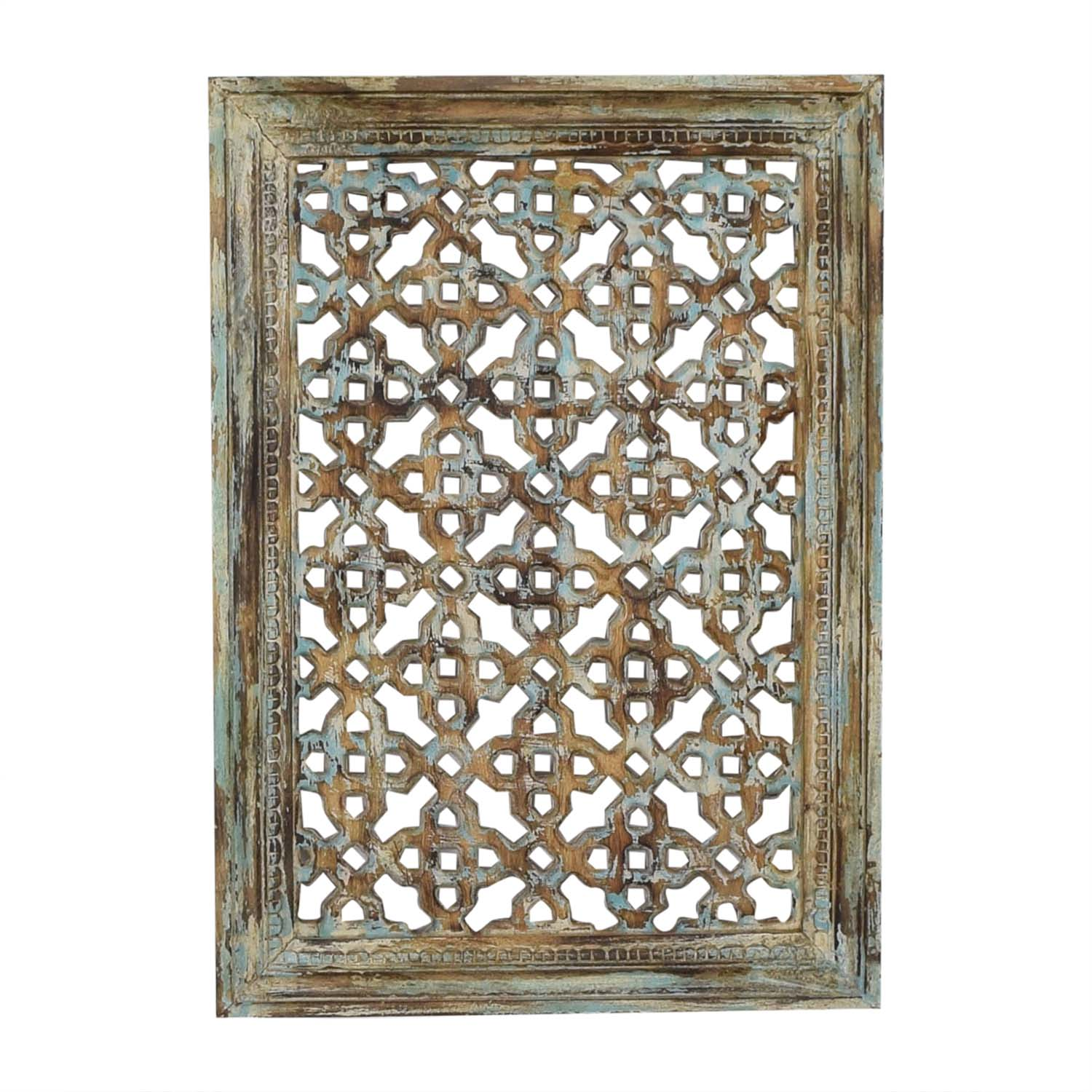buy Distressed Carved Panel Wall Art Nadeau Decor