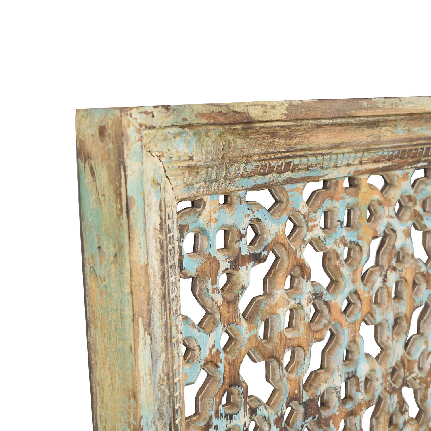 Nadeau Distressed Carved Panel Wall Art