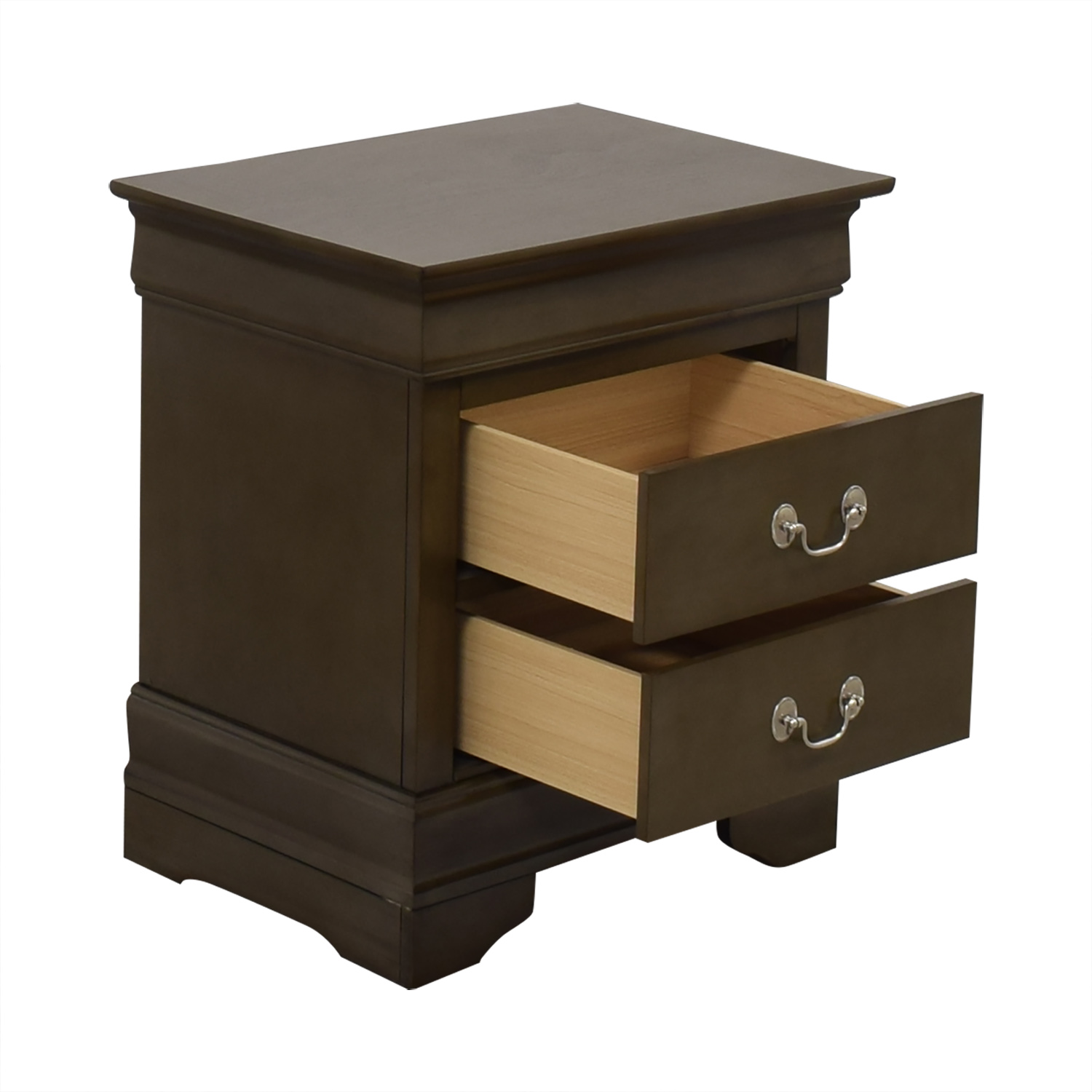 Raymour & Flanigan Two Drawer Nightstand sale