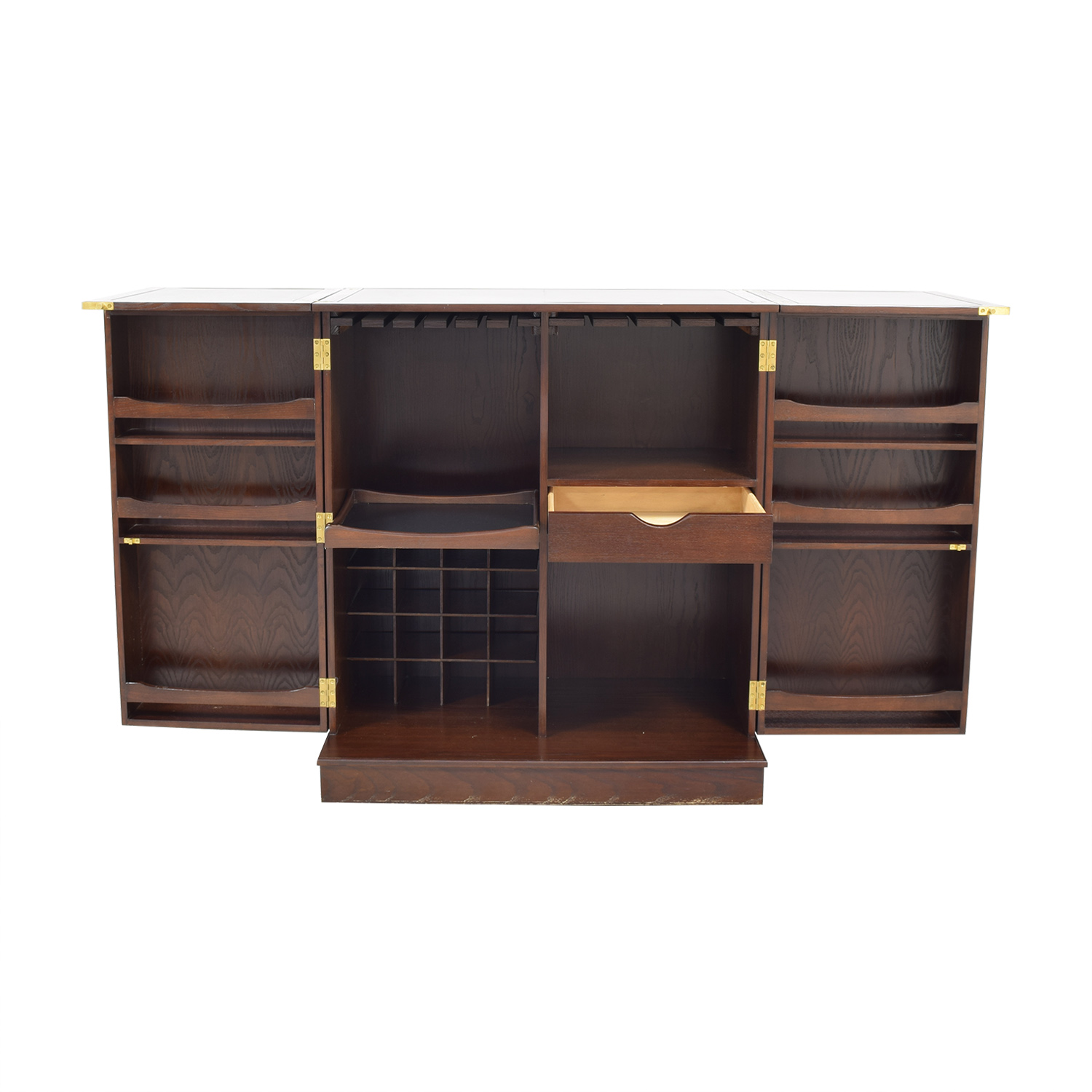 Crate & Barrel Crate & Barrel Foldaway Bar Cabinet for sale